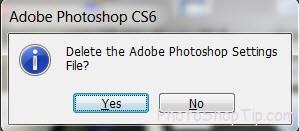 how to reset default settings photoshop cs6